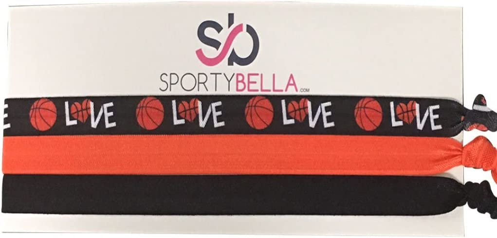 Basketball Hair Ties6ct Basketball Hair BandsNo Crease Hair Ties