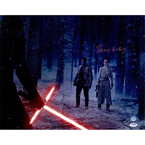 Forest Signed - Steiner Sports Daisy Ridley Signed Rey In Forest With Kylo Ren & Finn 16x20 Photo