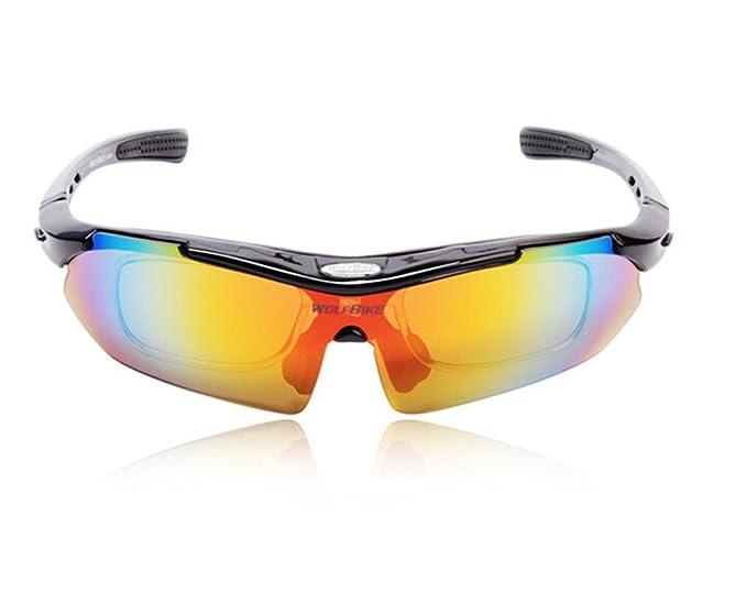 West ciclismo hombres mujeres Unisex 5 lentes intercambiables polarizadas UV resistente al viento MTB Bike Bicicleta Ciclismo gafas de sol para pesca ...