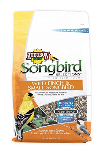 Songbird Selections 11978 Wild Finch and Small Songbird Wild Bird Food, 4-Pound (4lb Food Chickadee)