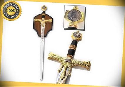 47'' Medieval King Solomon Crusader Sword with Display