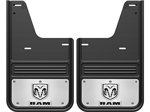 Gatorback RAM Head Logo Truck Mud Flaps (2009-18 RAM Rear - Single Rear -