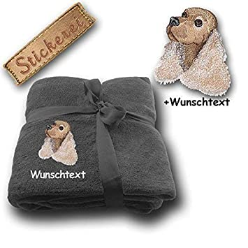 Personalised Coin Purse Wallet Spaniel Dog Choice of Fabric /& name linen or grey