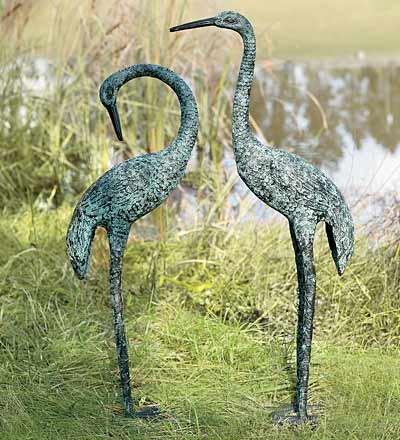Garden Cranes, set of 2