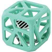 Chew Cube - easy grip teether rattle - Mint