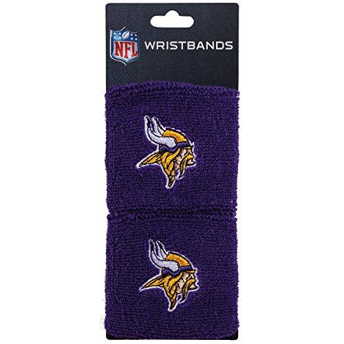 Band Uniform Accessories (NFL Minnesota Vikings Franklin Sports Minnesota Vikings Embroidered Wristbandsnfl Embroidered Wristbands, Purple, One Size)