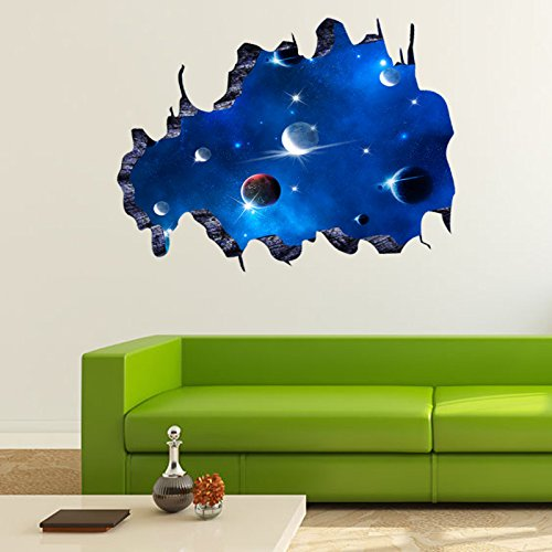 Kobe Ventilation Hood (Custom Extra 1PC 3D Space Sticker - Sticker Wall Decor Space - Window Outer Space Planet Wall Stickers for Kids Rooms Galaxy Wall Decal Mural Home 6090cm)