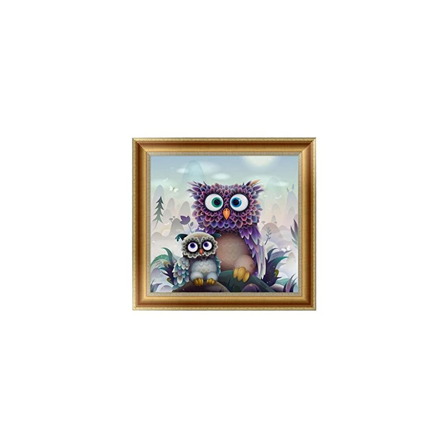 SCASTOE Owls DIY 5D Diamond Embroidery Painting Cross Stitch Craft Home Decor