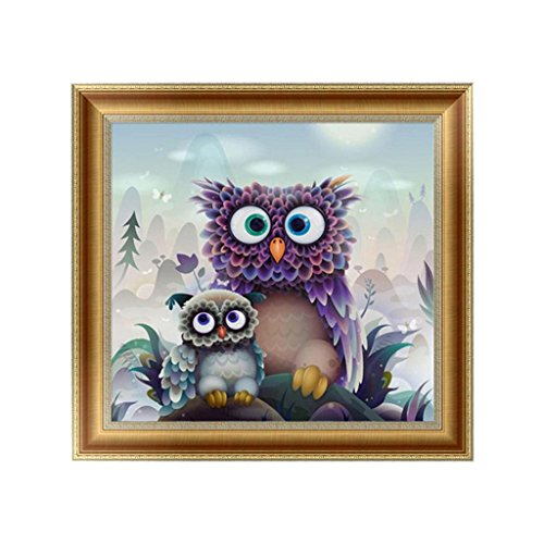 SCASTOE Owls DIY 5D Diamond Embroidery Painting Cross Stitch Craft Home (Diamond Cut Figure)