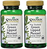 New Zealand Green Lipped Mussel 500 mg 60 Caps 2 Pack by Swanson