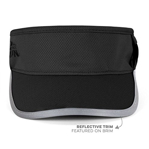 Gone For a Run Ultralight Visor With RunTechnology | Moisture Wicking and Reflective Sports Visor | Black by Gone For a Run (Image #1)