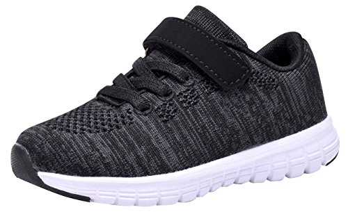 - Umbale Girls Flyknit Sneakers Comfort Running Shoes(Toddler/Kids) (9 M US Toddler, New Black)