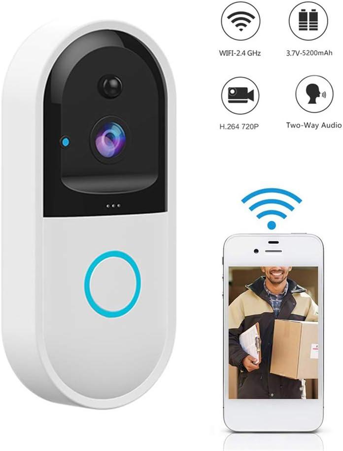 fang zhou Actualice Smart Wireless WiFi Video Timbre Cámara de Seguridad HD con detección de Movimiento PIR Visión Nocturna Charla bidireccional y Video en Tiempo Real, etc. Adecuado