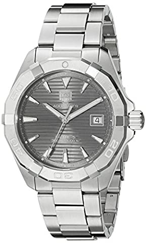 TAG Heuer Men's 'Aquaracracer' Swiss Automatic Stainless Steel Dress Watch, Color:Silver-Toned (Model: (Swiss Mechanical Automatic)