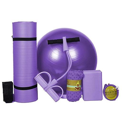 YCLOTH Kit de Gimnasio en casa, Yoga, Esterilla de Yoga para ...