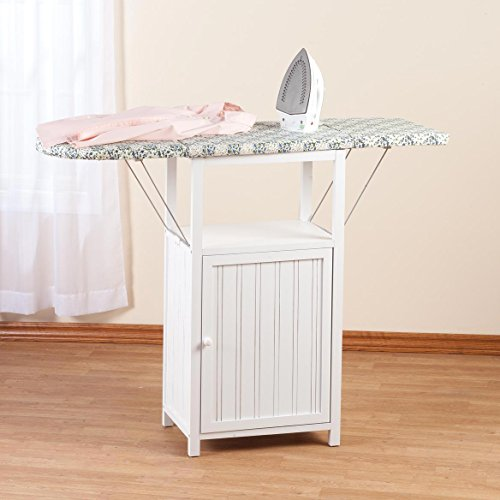 Miles Kimball Deluxe Ironing Board with Storage Cabinet by Oakridge, White by Miles Kimball (Image #2)