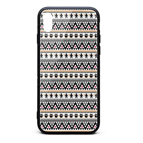 Phonerebey iPhone Xs Max Case,Halloween Tribal Aztec Anti-Scratch Shockproof Slim Cover Case Compatible with Apple iPhone Xs Max Case,TPU and Tempered Glass ()
