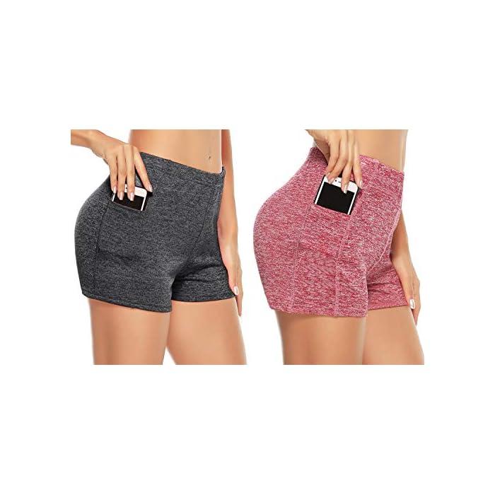 51QK%2BvUkW9L ✔ 2 piezas Pantalones cortos: cinturilla elástica, súper suave y elástica, te mantiene fresco y cómodo. ✔ Tela: tela de secado rápido para comodidad durante todo el día y se siente muy bien en la piel 93% Poliéster, 7% Elastano