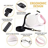 Fida Retractable Dog Leash, 16 ft Dog Walking Leash for Small Dogs up to 26lbs, Tangle Free, White