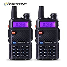 Zastone V8 Walkie Talkie 128-Channel 5W VHF/UHF Two-Way Radio 2 Pack With Earpiece