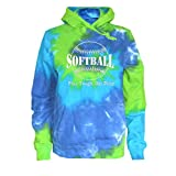 Softball Tie Dye Sweatshirt Play Tough Get Dirty Logo