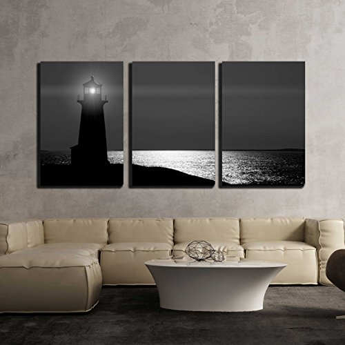 Peggy'S Cove Lighthouse in Nova Scotia at Night. - Modern Home