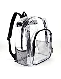 26611b7afe Heavy Duty Transparent Clear Backpack See Through Backpacks for  School