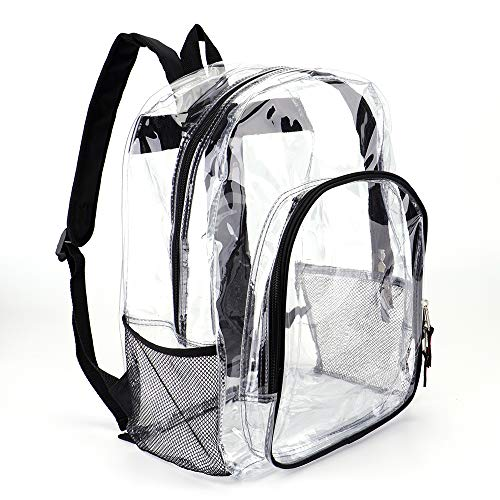 7d341d065609 Heavy Duty Transparent Clear Backpack See Through Backpacks for School