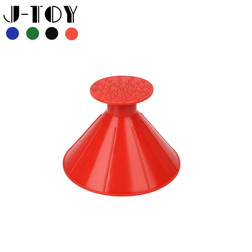 J-Toy Ice Scrapers Car Round Windshield Snow Scraper Car Snow Removal Shovel Tool as Funnel Magic Cone-Shaped Funnel Car Windshield Snow Removal Tool Red by J-Toy