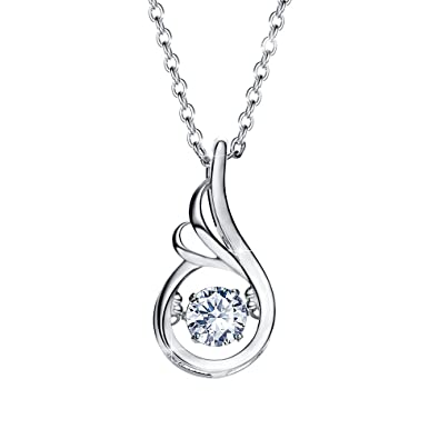 52a345860 Valentines Day Gifts Necklace, 925 Sterling Silver Pendant Necklace for Mom,  Women, Wife