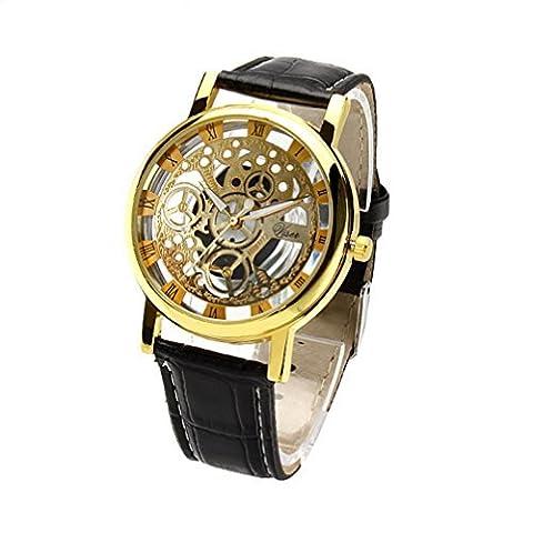 See-Through Mechanical Gear Face Watch:181 (Geneva See Through Watch)