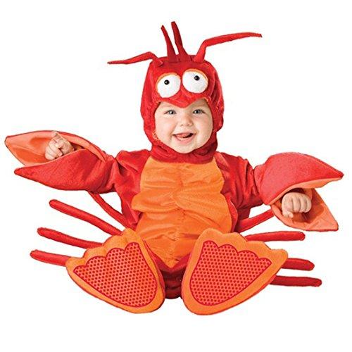 Lobster Baby Costume Amazon (JTENGYAO Infant Boys Girls Animal Lobster Costume Halloween Christmas Pajamas Cosplay Costume(10-12 Months))
