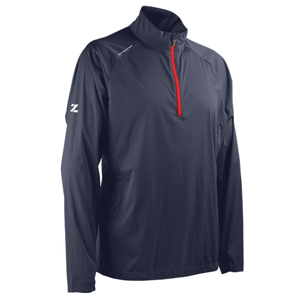 Sun Mountain 2018 Men's Zephyr Lt Golf Pullover (Navy/Red, XL)