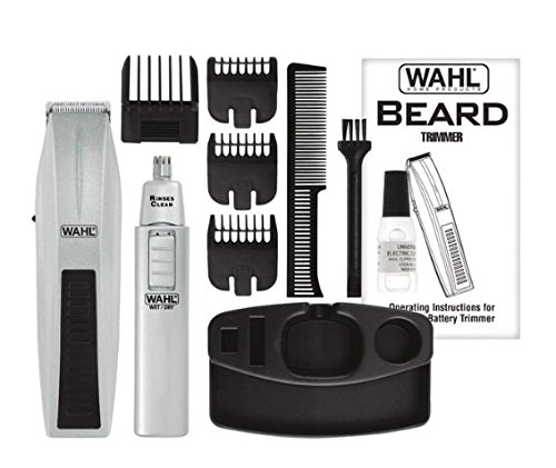 wireless men 39 s beard trimmer and ear nose trimmer by wahl free shipping ebay. Black Bedroom Furniture Sets. Home Design Ideas