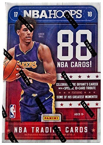 2017/18 Panini Hoops NBA Basketball BLASTER box (11 pk + ONE Memorabilia or Autograph - Box Nba Card