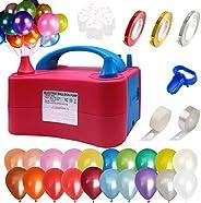 Whizkidio Balloon Pump Electric with Rainbow Balloon Garland Kit Balloon Pump Kit Portable Decorating Strip Ki