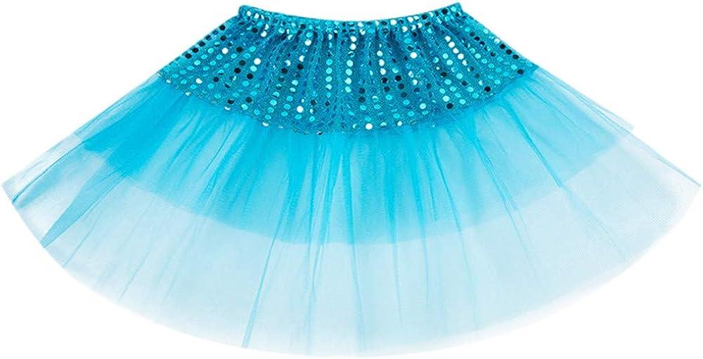 Lazzboy Ragazze tut/ù Tutu di Ballettoto Gonna di Tulle Scintillanti Paillettes Principessa Vestire Abiti da Ballo per 2-7 Anni Costume Festa Bambini