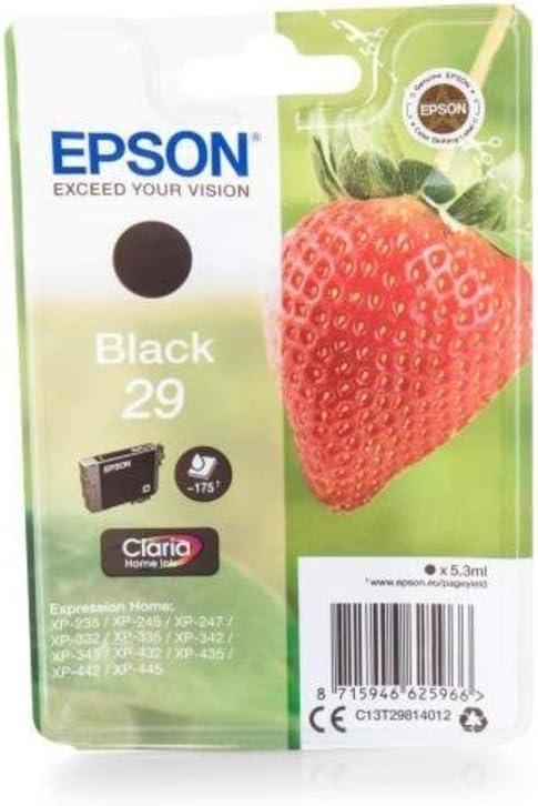 Epson Original Epson Expression Home Xp 342 29 C13t29814010 Tintenpatrone Schwarz 175 Seiten 5 3ml Bürobedarf Schreibwaren