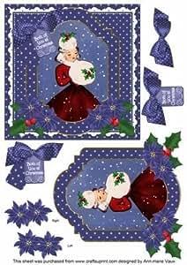 Invierno Lady ambos of You 6en Navidad paso a paso por Ann-Marie Vaux