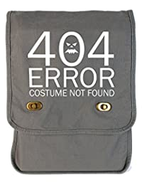 Dancing Participle 404 Error Costume Not Found Smoke Grey Canvas Field Bag
