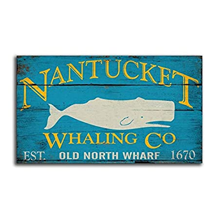 CELYCASY Nantucket Whaling Co Sperm Whale Moby Dick White ...