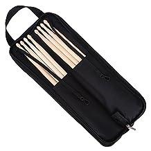 CAHAYA Drum Sticks 4 Pairs with Oxford Drumstick Bag Padded Handheld for Drum Set Practice