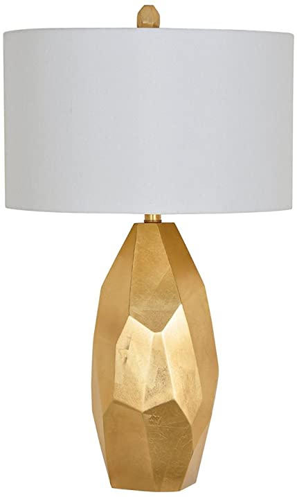 Crestview collection roxy shiny gold table lamp