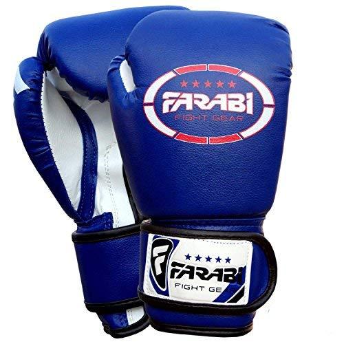 Farabi Kids boxing gloves, junior mitts, junior mma kickboxing Sparring gloves 4Oz blue