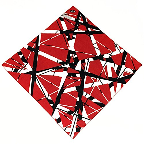 Edward Eddie Van Halen EVH Red Stripes Bandana Handkerchief