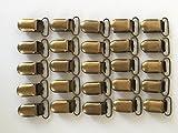 "JerryMart 25pcs 20mm 3/4"" Bronze Pacifier Suspender Clips, Pacifier Clips for Making Pacifier Holders Bib Clips Toy Holder"