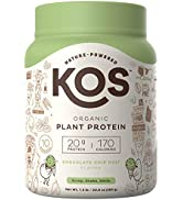 KOS Organic Plant Based Protein Powder - Chocolate Chip Mint Protein Powder - Gluten, Dairy amp; Soy...