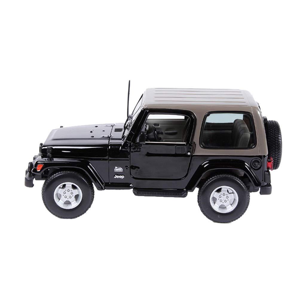 LIUFS-Alloy Car 1:18 Jeep Wrangler Sahara Alloy Car Model Original Boy Gift ( Color : Black )