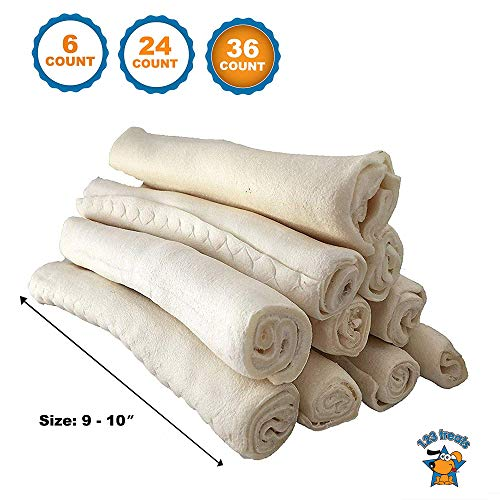 123 Treats Premium Rawhide Retriever Rolls for Dogs 100 All-Natural Grass-Fed Free-Range Small Beef Rawhide Rolls Bulk High-Protein Healthy Chew Treats to Improve Pet Dental Hygiene