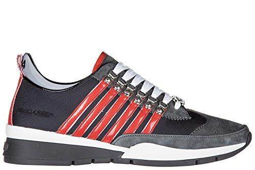 Dsquared2 chaussures baskets sneakers homme en cuir 251 veau sport gris